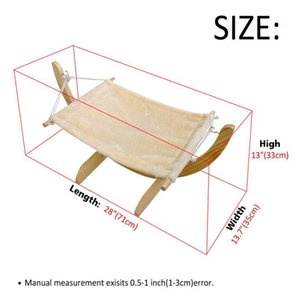 Warm Winter Cat Bed Soft Pet Cats Hammock Puppy Kitten Hanging Beds Mat With Durable Wood Frame For Sm bbyIeM
