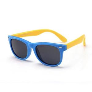 New spot silicone fashion anti ultraviolet Sunglasses baby glasses polarized children's Sunglasses round face version retro slim trendy