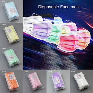 envío libre de 3-7 días a la cara Máscaras de EE.UU. desechable con elástico Ear Loop 3 capas transpirable para el bloqueo de polvo del aire Anti-Pollution Crema 2252