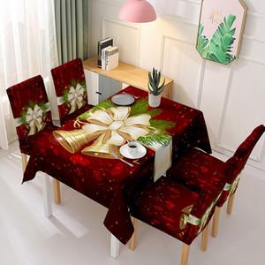 Christmas Chair Copertura Tovaglia Poliestere Caone Stampato Sedile Cover Tovaglia Coprisedili Elastici impermeabili Coprisedili Home Party Decor VT1837