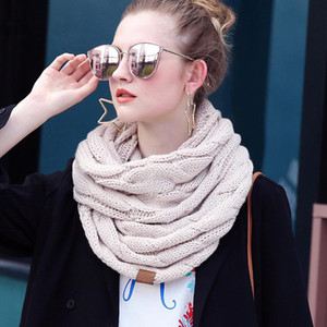 INS 25 Colors Women Scraves Fashions Knitted Scraf Unisex Quality Wraps Wholesale Solid Winter Autumn Ladies Accessories
