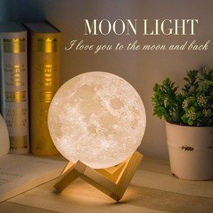 Şarj edilebilir Gece Işığı 3D Ay Lambası 16/2 Renk Değişimi Dokunmatik Anahtarı / Uzaktan Yatak Odası Kitaplık Nightlight Yaratıcı Hediye 201.028 yazdır