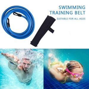3 Colori Lattice Swim Bungee Cavi Static Belt Swimming Belt Swimming Training Belt Durevole Snorkeling Educazione fisica Motion1