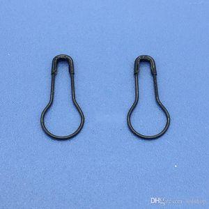 Atacado 1000pcs alta qualidade / Lote 21 milímetros Comprimento Black Gold / Silver Metal Cor Pear / Shaped Safety Pins Gourd Needle Steel Wire Pin