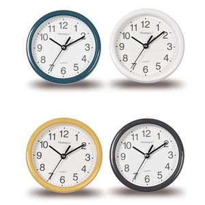 15cm Small Wall Clocks Classic Simple Thick Border No Tick Mute Hanging Watch Clock Cute Desktop Student Dormitory Home Decor