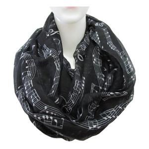 Fashion Women Fashion Winter Music Note Treble Clef Shawl Stole Scarves Scarf Wrap Autumn wear Streetwear Warmwear wholesale