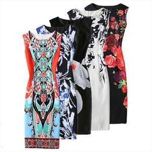 New Summer Women Dress Vestido Sexy De Festa Dresses For Work Moda Roupas Feminina Print Pack Hip Party Dresses O neck D