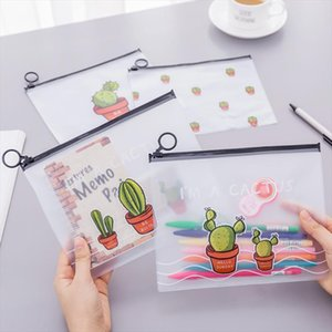 Cactus Transparent Scrub Cosmetic Bag Travel Makeup Case Ladies Make Up Organizer Storage Pouch Toiletry Women Wash Kit
