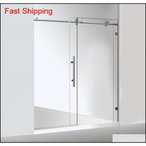 Class Not Include Stainless Steel Chrome Frameless Sliding Shower Door Hardware Round Tube Sliding Show qylywD bde_luck