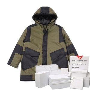 Parkas Men & Women Down Jackets Epaulet Autumn Winter Cotton-padded Outerwear Womens Streetwear Coats Hooded Letter Pattern Mens Tops