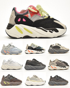 Vanta contre Kanye Kanye Running Shoes Utility Noir Analog inertie Statique Sneaker Sneaker Wave Runner Lifestyle Enfants Formateurs Chunky