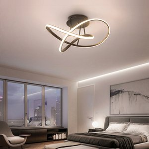 Modern LED Chandelier Lighting Dining Living Room Bedroom Ceiling Chandeliers Creative Aluminum Home Lighting Brown Black