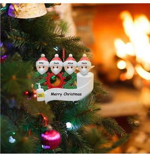 Счастливого Рождества 2020 Новый Рождественский кулон Маска для лица Снеговик Носить Маску Семейный Рождественский Украшение Выживший Подарок