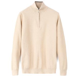 ralph lauren hommes designeur chaude hiver chandail Hommes Couleur O-Cou Casual Knit Jumpers Zip Pulls Mens Long Pullovers célèbre Brand Jeune Jeune Pull d'hiver