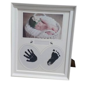 Photo Frame Baby Photo Frame Newborn Wall for Pictures Handprint Footprint Ink Pad Kid Birthday Gift Cadre Room Decor