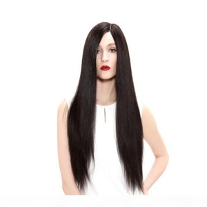 9A Haute luxo de seda Moda peruca Glueless Cabelo Humano 100% brasileira completa Lace Wig yaki lace reta completa virgem peruca com cor bebê 2 #
