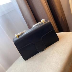 Женщины дизайнер подлинной натуральной кожи плеча способа сумка Luxurys Crossbody Сумка кошелек дамы Small Square Bag New 2020