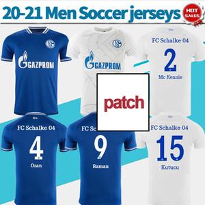 2021 FC Schalke 04 Home Blue Soccer Jersey # 2 MC Kennie 20/21 прочь белая футбольная рубашка # 8 Serdar # 15 Kutucu Индивидуальные мужчины Футбольная форма