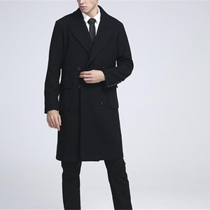 Winter Coats Men's Medium Length Business Plus Size Overcoat Woollen Jacket Double Breasted Wool Trench Super Large Size 9XL