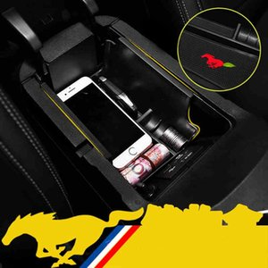 QHCP Car Armrest Box Storage Boxes Central Tray Pallets Container Organizer Stowing Tidying For Mustang 2020-2020 Accessory