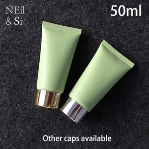 50g Matte Green Plastic Cosmetic Squeeze Bottle 50ml Facial Cream Frost Soft Tube Shampoo Lotion Containers Free Shipping