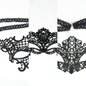 Masquerade Sexy Party 6 Masks Lace Black Design Lace Mask Toy for Ladies Halloween Dance Party Y1
