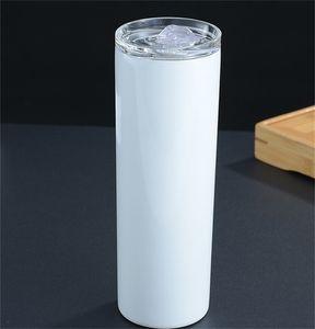 Paslanmaz Çelik Süblimasyon Boşlukları Kupa Kahve Iş İlişkeleri İçecek Su Şişesi 20 Oz Taşınabilir Sıska Tumbler Yeni Ürünler 13YM F2