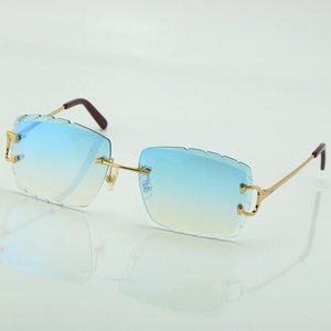 or Glasses Free outdoors NEW 2021 Carved women Hot with C Shipping Wire Frame Sun Sunglasses Rimless Decoration lens men Glasses Man gl Nnxd