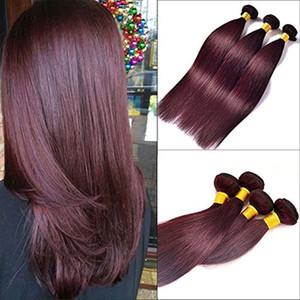 CE zertifiziert Elibess Marke Großhandel, Menschenhaar-Webart 10A brasilianische Haarfarbe 99j Bug menschliches Haar flechten 3bundles