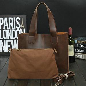 Бренд мужской портфель сумка сумасшедший конь PU кожа посыльный сумка для путешествий бизнес мужчины Tote сумки мужчина случайные поперечные портферы