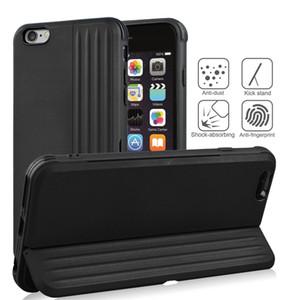 iPhone 13 12 11 PRO XS MAX XR 6 7 8 Plus de cas de téléphone 2 en 1 cas avec fente de carte pour Samsung S20 S21 Ultra