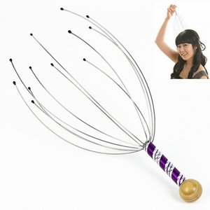 1Pcs Head Massager Beauty product Funny Neck Massage Octopus Scalp Stress Relax Spa Healing Alloy Free Shipping