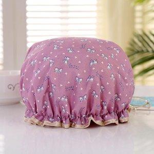 1pcs multicolor wmtdii copertina doppio capello impermeabile cappelli in cotone strato fumetto layer tappo in poliestere bagno bagno prodotti H Doccia NDBNN