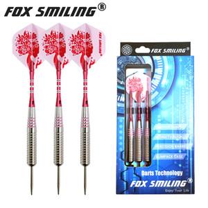 Fox Smiling Dart 3PCS 24g Dart Pin Steel Darts with Aluminum Shaft Send 3PCS Shafts 3PCS