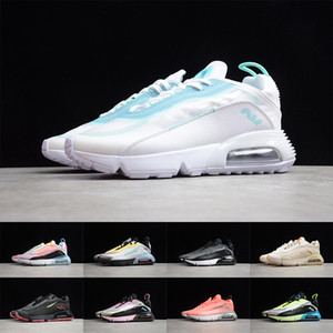 Air 2090 Running Shoes Mens Womens Triple Negro Neam Neon Highlighter Rosa Espuma Pato Camo Sneakers 2090s Daily Walking Trainers