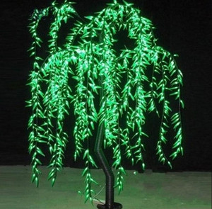 LED Willow Tree Light LED 1152pcs LEDs 2m 6.6FT Green Color Rainproof Indoor or Outdoor Use fairy garden Christmas Decoration