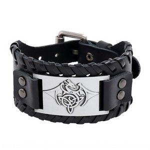 9AeZJ 2020 nuovi tessuti della pelle bovina degli uomini PUNK di cuoio 2020 Accessori accessori braccialetto nuovo tessuto della pelle bovina degli uomini punk Bracelet