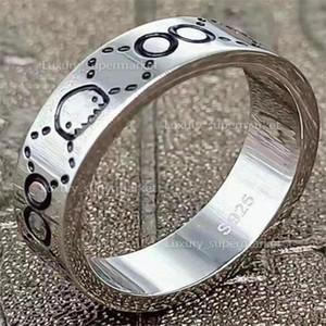 2020 Ювелирные Изделия Мужчины / Женщины Мода Роскошный Кольцо Золотая Пара Кольцо S925 Высокополированный Кольцо Подарочная коробка