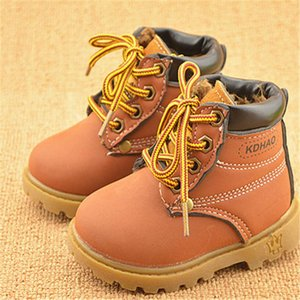 2020 Winter Children's Boots Girls Boys Plush Martin Boots Casual Warm Ankle Shoes Kids Fashion Sneakers Baby Snow Boots jllHPQ bdetrade
