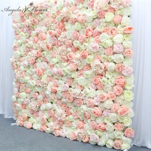 Luxury Custom 3D Gradient Change Artificial Flowers Wall Panel Wedding Backdrop Decor Party Shop Event Flower Arrangement Crafts 1 m by 1 m