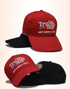 Two Styles Embroidery Cotton Adjustable Breathable Hat Trump 2020 Keep America Great Baseball Cap Outdoor Trump Unisex Caps For Free DHL