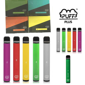 Barra de Puff bar Puff Plus 800 + Puff Disable POD Cartucho 550mAh Bateria 3.2ml Pré-enchido Vape Vabras Stick Barra Puff Plus Vaporizador Portátil