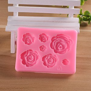 Rose siloxane mold soft candy mold cake decoration tool Chocolate Mold Accessories