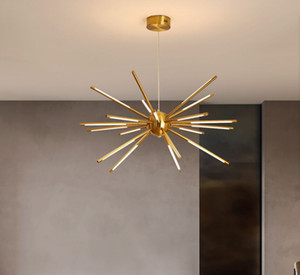 Modern Led Chandelier Lamp For Living Room Dining Creative Design Luxury Gold Branches Villa Loft Ceiling Hanging Light Fixture