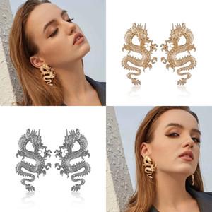 Dragon Alloy Ear Studs Gold Patted Lady Pendiente Fresco Fresco Mujeres Pendientes Personalidad Accesorios Venta caliente 2 99QY P2