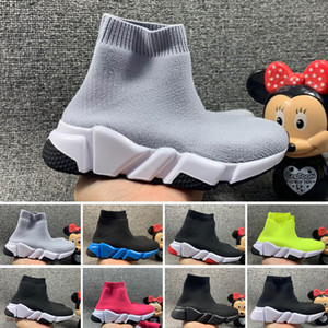2021 Kids Fashion Ankle Boots Speed Stretch Mesh High Top chaussure Trainer Running Shoes Speed Knit Sock Mid-Top Trainer Sneakers