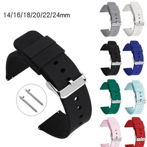 14mm 16mm 18mm 20mm 22mm 24mm Sile Band Strap Quick Release Watchband Bracelet For Samsung Active 2 Huami Huawei Sma jllzNX