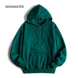 MOINWATER Brand New Women Fleece Hoodies Lady Streetwear Sweatshirt Female White Black Winter Warm Hoodie Outerwear MH2001