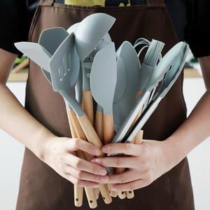 OneUp Silicone Multifuncional Kitchen Tool Set de cozinha antiaderente Ferramentas cozinha Acessórios Food Grade resistente ao calor Cozinha C0927