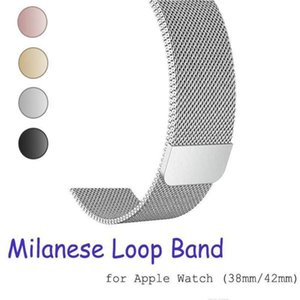 Iwatch Stainless Strap Milanese Series Watchband 1 40mm 4 Watch 42mm 3 Band Bracelet Loop Metal Steel 2 Epacket 38mm For 44mm For sqcgb